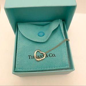 Tiffany&Co. Silver Elsa Peretti Open Heart Pendant